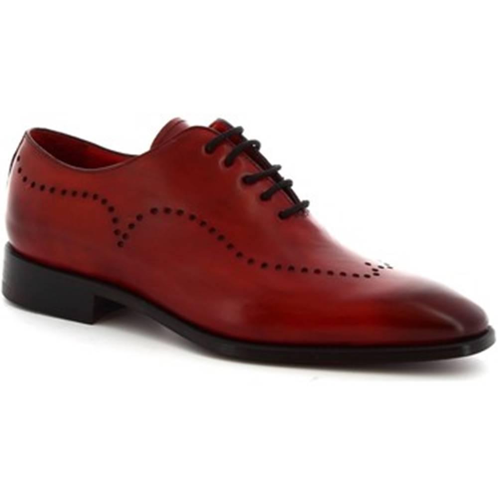 Leonardo Shoes Derbie Leonardo Shoes  6881I18 TOM MONTECARLO DELAVé ROSSO