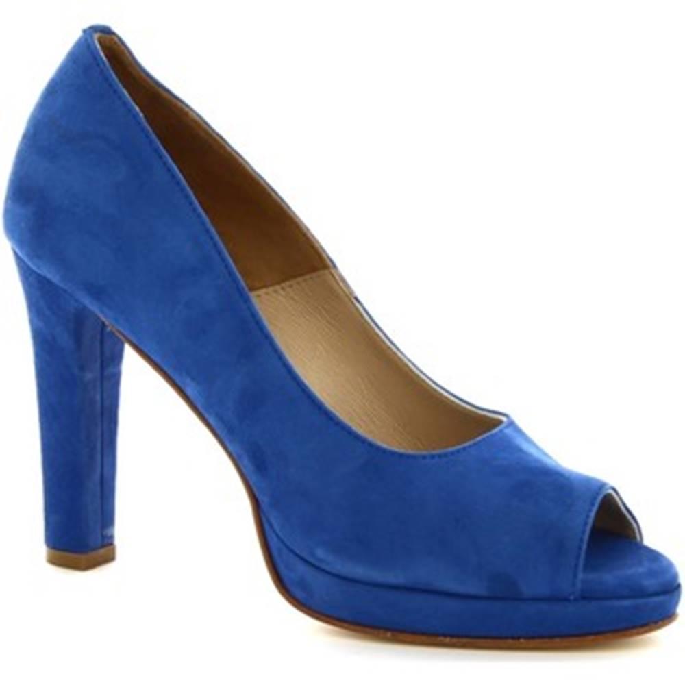 Leonardo Shoes Lodičky Leonardo Shoes  274 CAMOSCIO AZZURRO DEEP