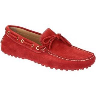 Mokasíny Leonardo Shoes  502 CAMOSCIO ROSSO PIOLI