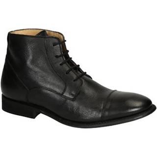 Polokozačky Leonardo Shoes  PINA 3022 CAVALLO NERO