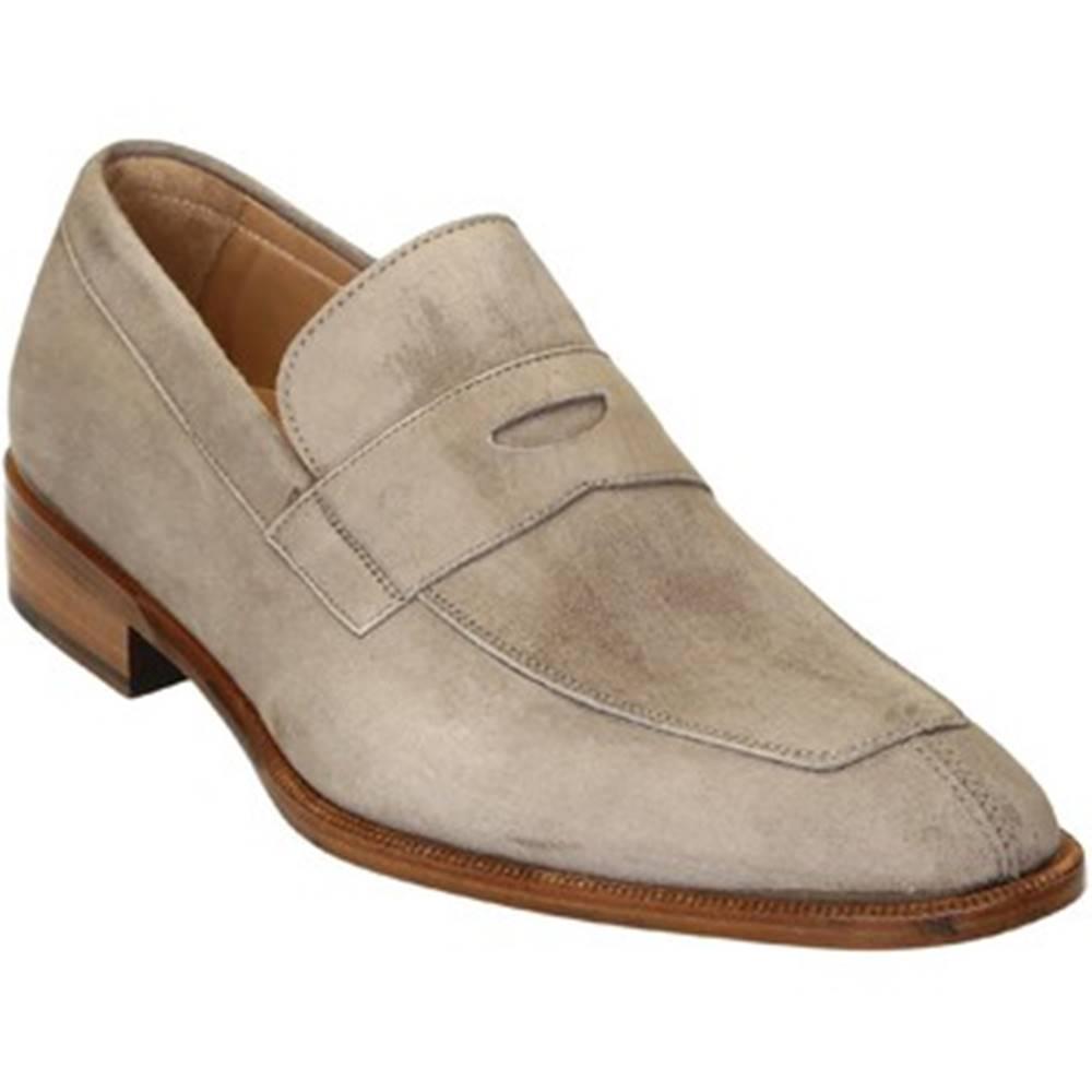 Leonardo Shoes Mokasíny Leonardo Shoes  PINA 8 CAMOSCIO TAUPE