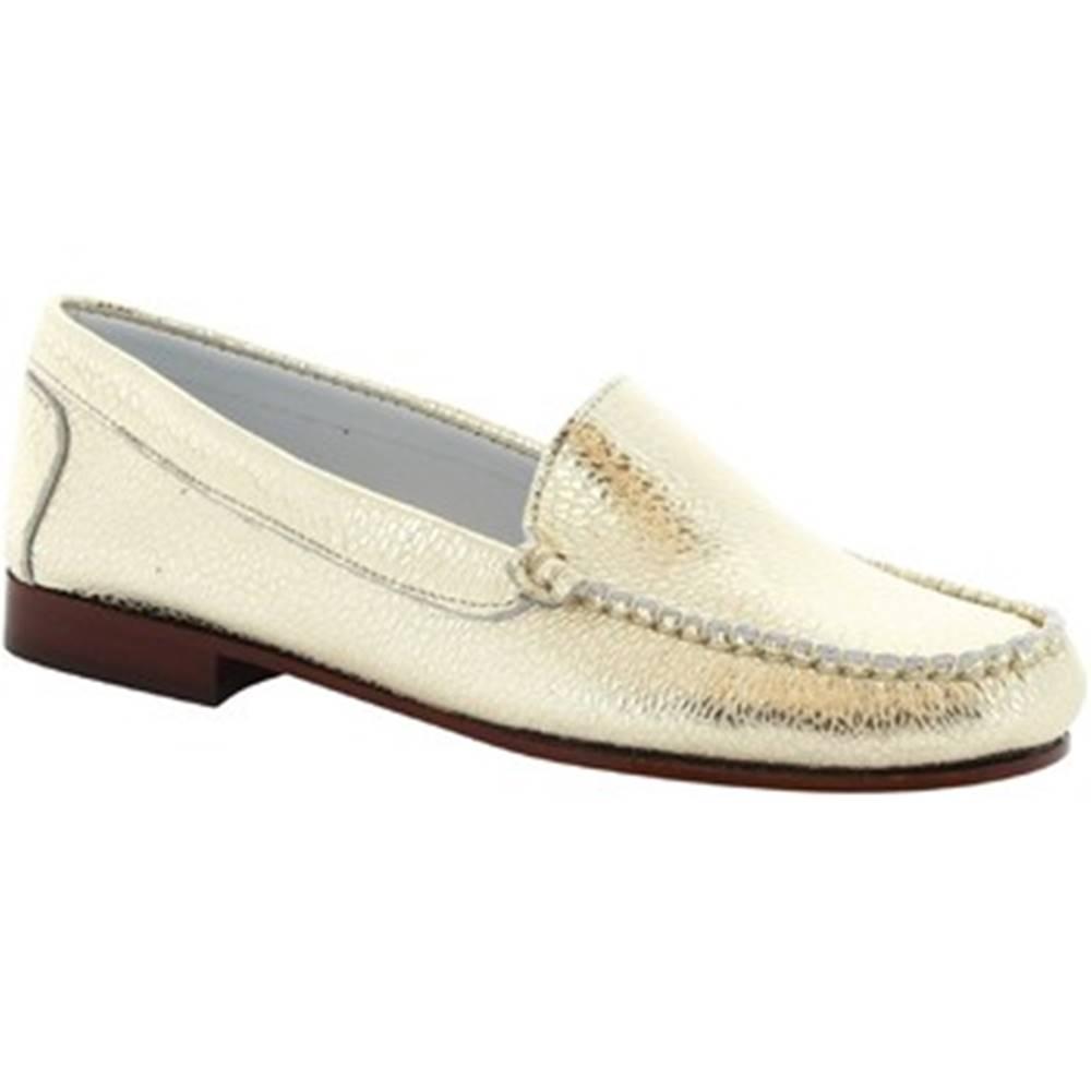 Leonardo Shoes Balerínky/Babies Leonardo Shoes  318 EQUIPAGE PLATINO