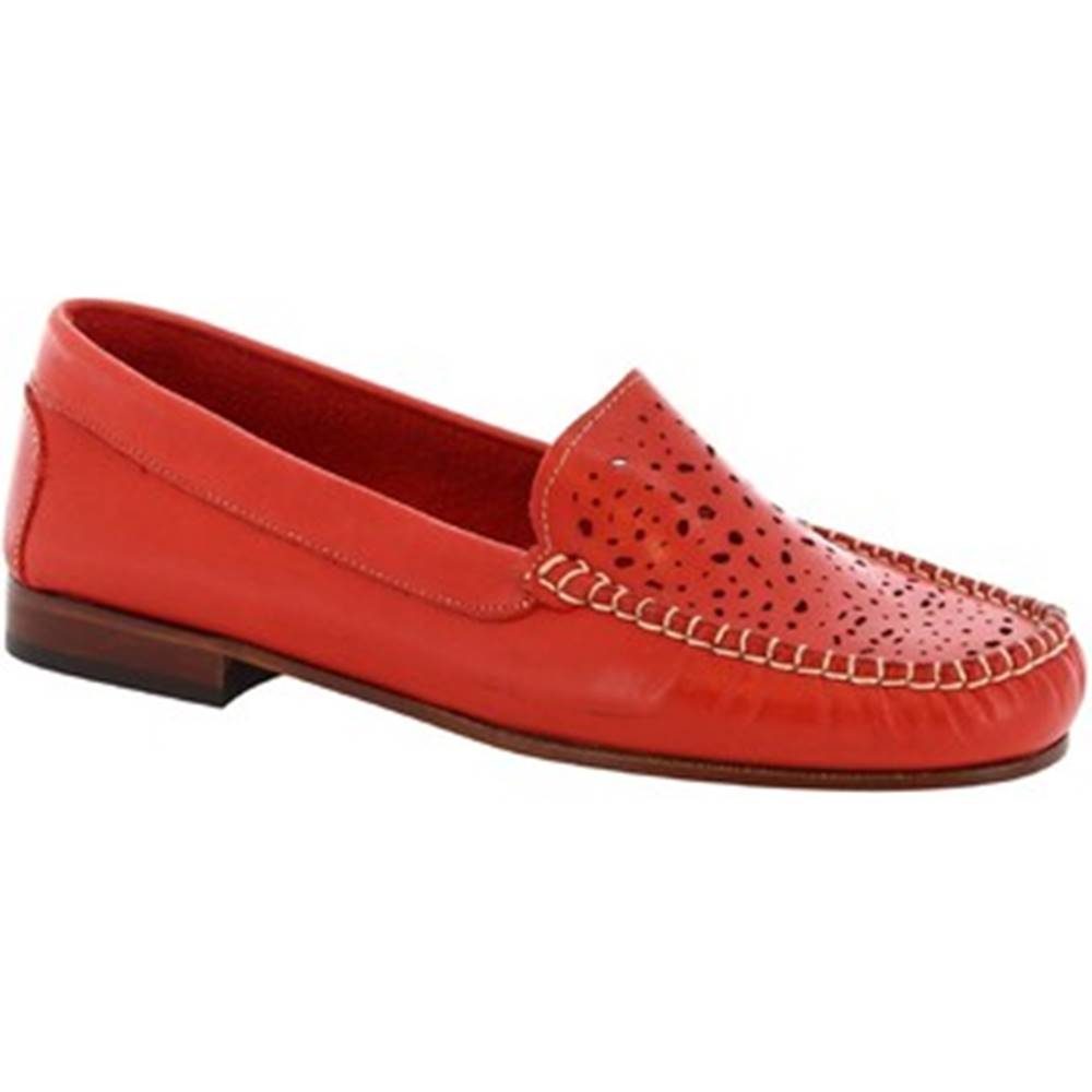 Leonardo Shoes Balerínky/Babies Leonardo Shoes  5026 VITELLO ROSSO