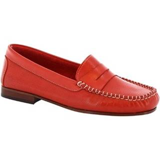 Balerínky/Babies Leonardo Shoes  2591 VITELLO ROSSO
