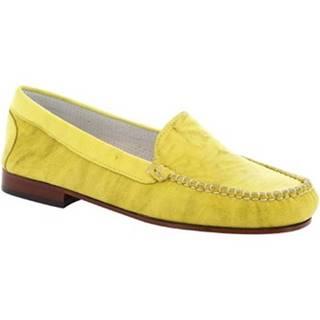 Balerínky/Babies Leonardo Shoes  318  STROPICCIATO GIALLO