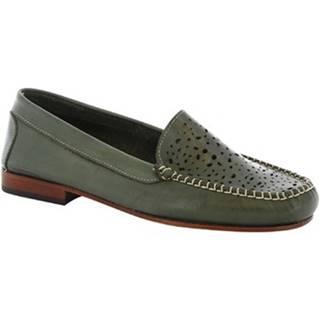 Balerínky/Babies Leonardo Shoes  5026 VITELLO VERDE