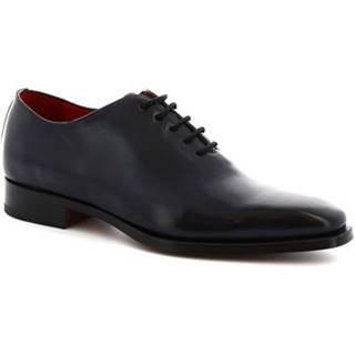 Derbie Leonardo Shoes  8728E19 VITELLO  DELAVE BLU