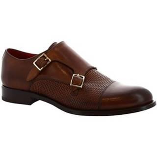 Mokasíny Leonardo Shoes  8619E19  TOM VITELLO DELAVE BRANDY