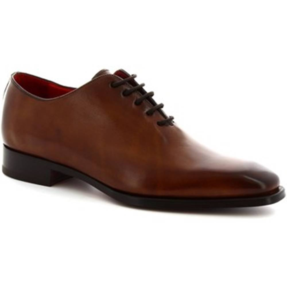 Leonardo Shoes Derbie Leonardo Shoes  8728E19 VITELLO  DELAVE BRANDY