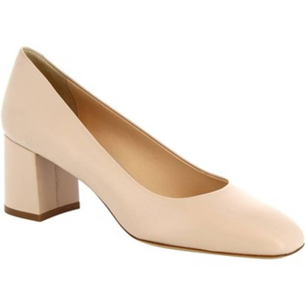 Leonardo Shoes Lodičky Leonardo Shoes  T60 NAPPA NUDE