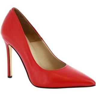 Lodičky Leonardo Shoes  206 NAPPA RED