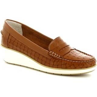 Mokasíny Leonardo Shoes  5023 VITELLO CUOIO