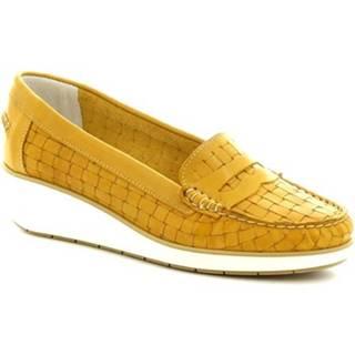 Mokasíny Leonardo Shoes  5023 VITELLO GIALLO