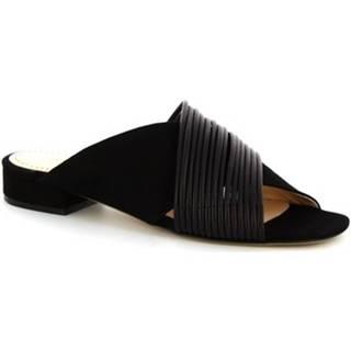 Sandále Leonardo Shoes  G12 CAMOSCIO NERO