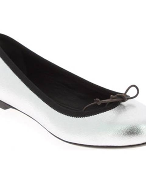 Strieborné topánky Saint Laurent