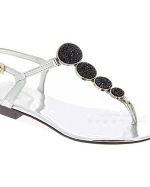 Strieborné topánky Barbara Bui