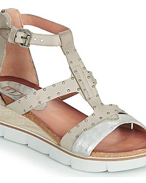 Strieborné topánky Mjus