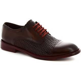 Derbie Leonardo Shoes  6570/2 CANDY TUFF CUOIO SCURO