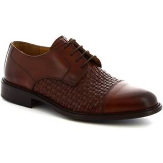 Derbie Leonardo Shoes  912BIS MARRONE