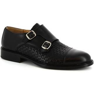 Mokasíny Leonardo Shoes  1218 NERO