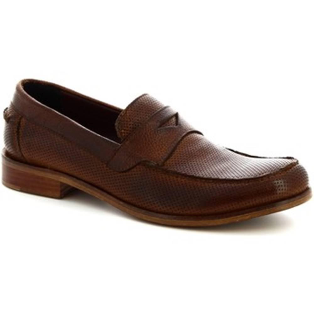 Leonardo Shoes Mokasíny Leonardo Shoes  2580/1 BUFALO CUOIO