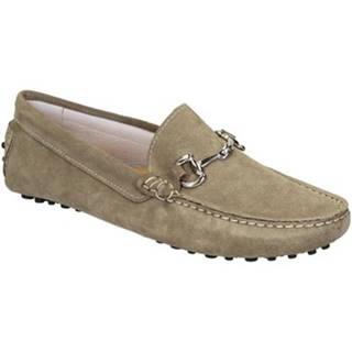 Mokasíny Leonardo Shoes  504 CAMOSCIO TAUPE