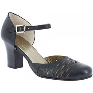 Lodičky Leonardo Shoes  U042 TANGERI NERO