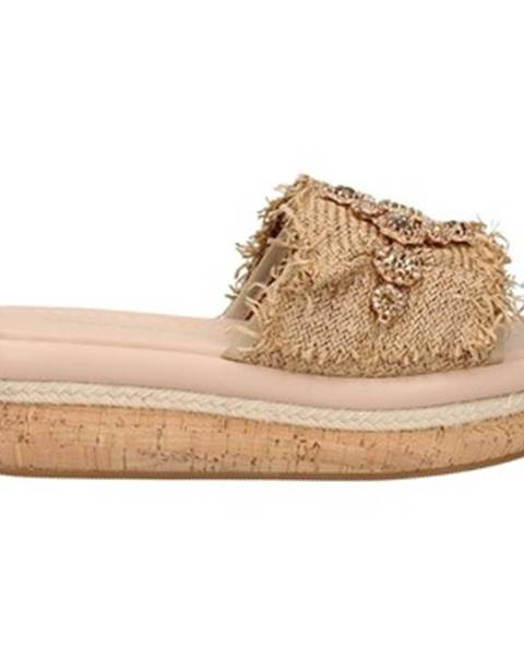 Béžové topánky Emanuélle Vee