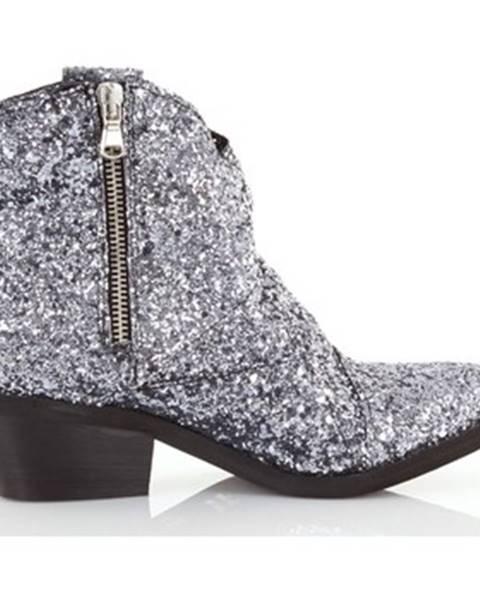 Strieborné topánky Le Pure