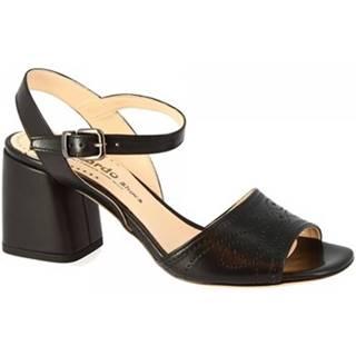 Sandále Leonardo Shoes  6000G VITELLO NERO