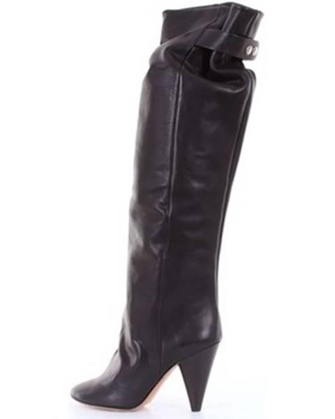 Čierne čižmy Isabel Marant
