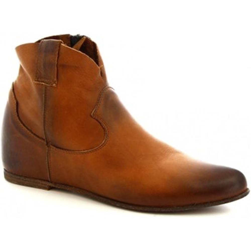 Leonardo Shoes Polokozačky Leonardo Shoes  RPT86 SAVAGE CUOIO