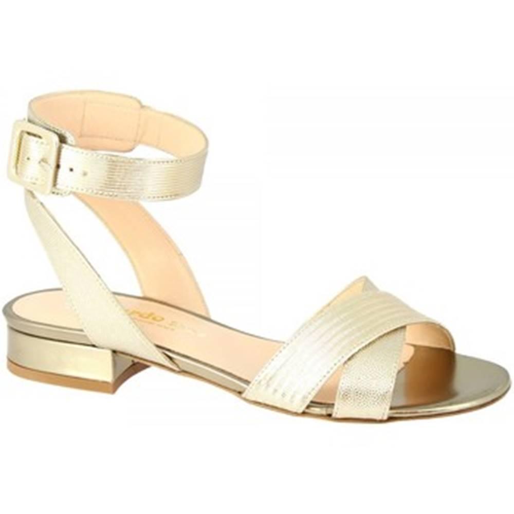 Leonardo Shoes Sandále Leonardo Shoes  3115 FOCUS ORO