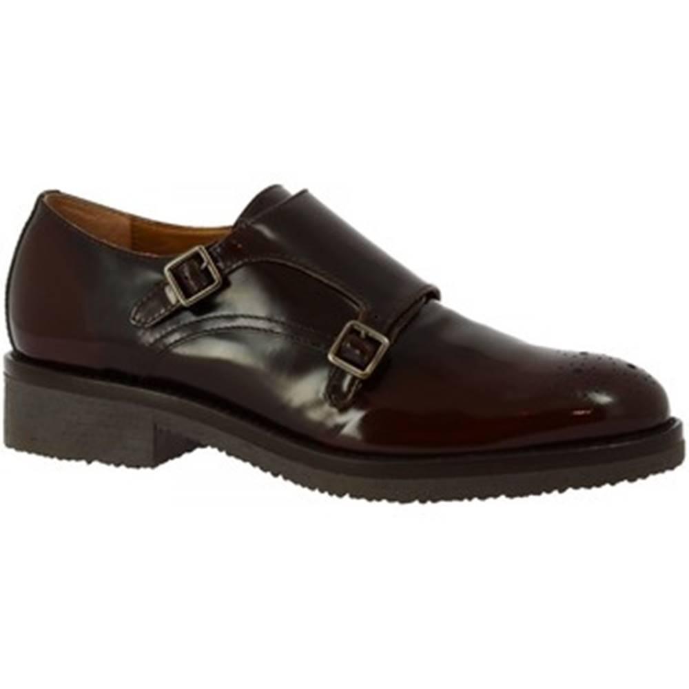Leonardo Shoes Derbie Leonardo Shoes  6004/2 ABRASIVATO ESPRESSO