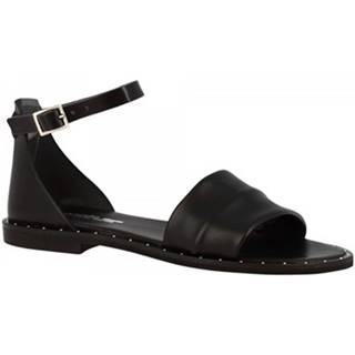 Sandále Leonardo Shoes  301B VITELLO NERO