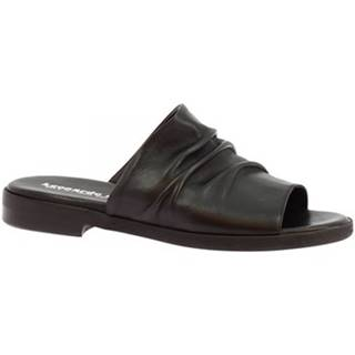 Šľapky Leonardo Shoes  LISA 03 NAPPA NERO