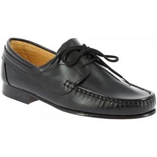 Derbie Leonardo Shoes  096 VITELLO NERO