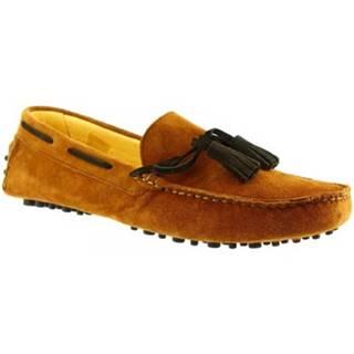 Mokasíny Leonardo Shoes  511 CAMOSCIO RUGGINE