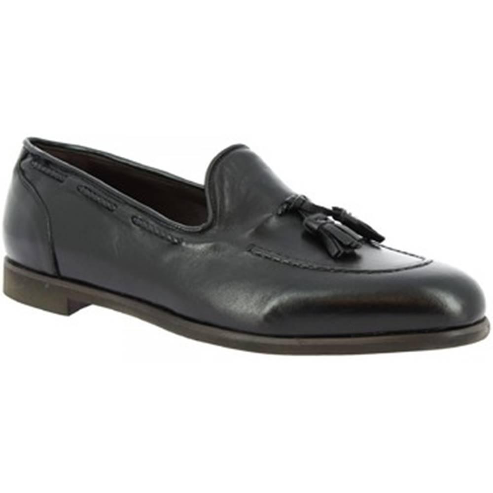 Leonardo Shoes Mokasíny Leonardo Shoes  809/1 PAPUA NERO