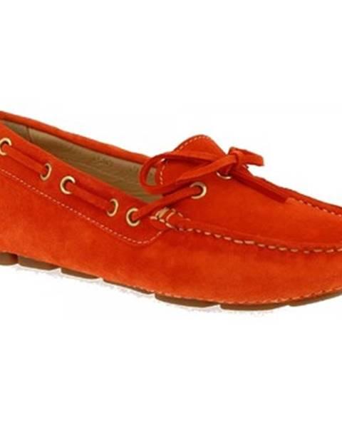 Oranžové topánky Leonardo Shoes