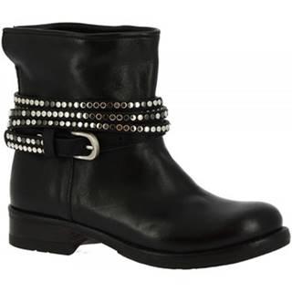 Čižmičky Leonardo Shoes  K605 ANTIK NERO