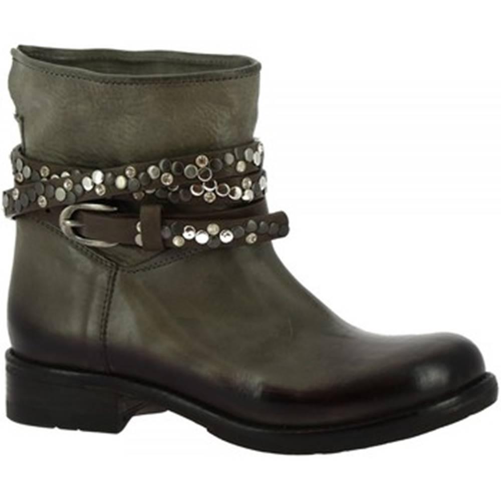Leonardo Shoes Čižmičky Leonardo Shoes  K605 ANTIK GRIGIO