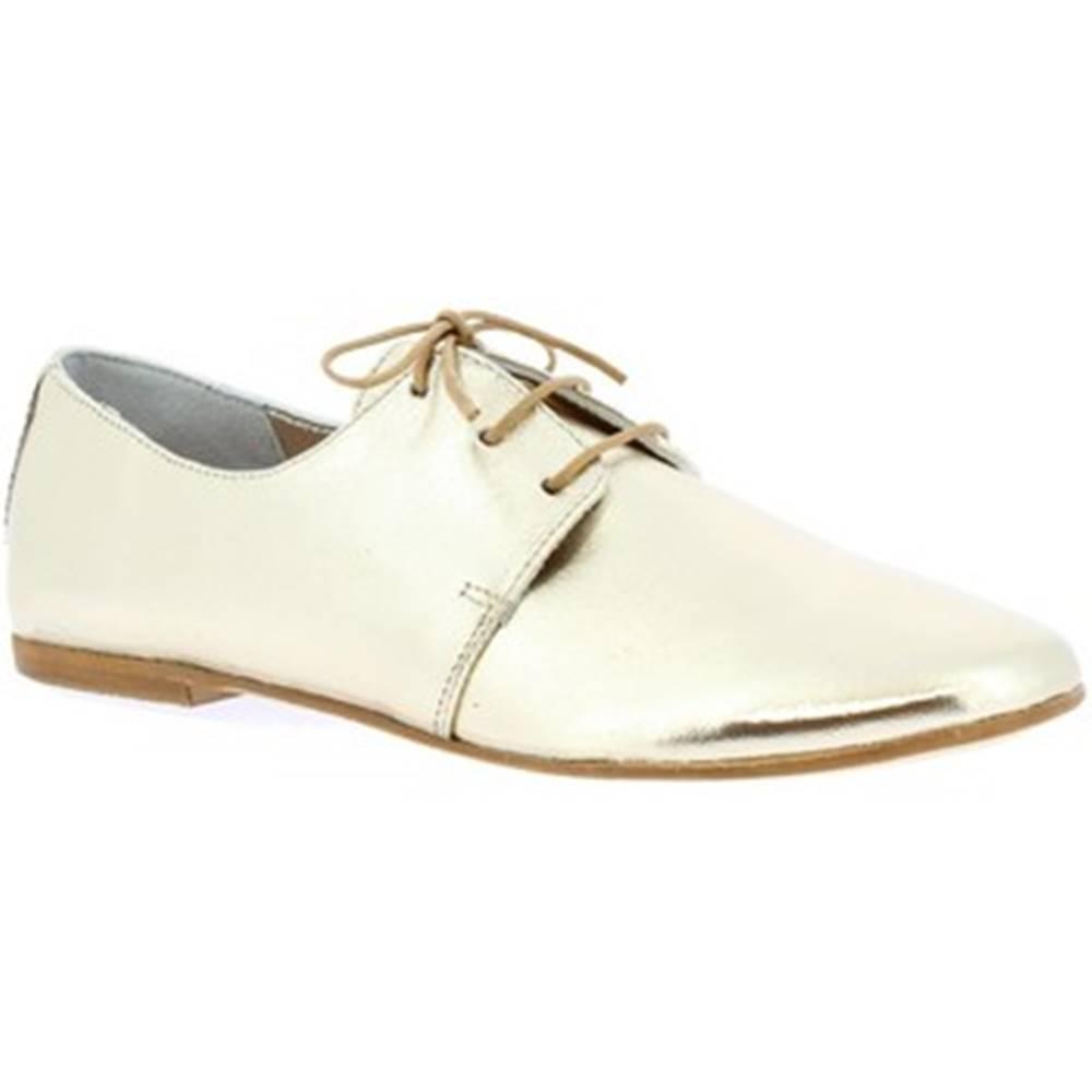 Leonardo Shoes Derbie Leonardo Shoes  571-75 LAM. PLATINO