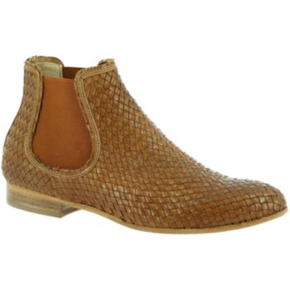 Leonardo Shoes Polokozačky Leonardo Shoes  S067/F KONS TORTORA