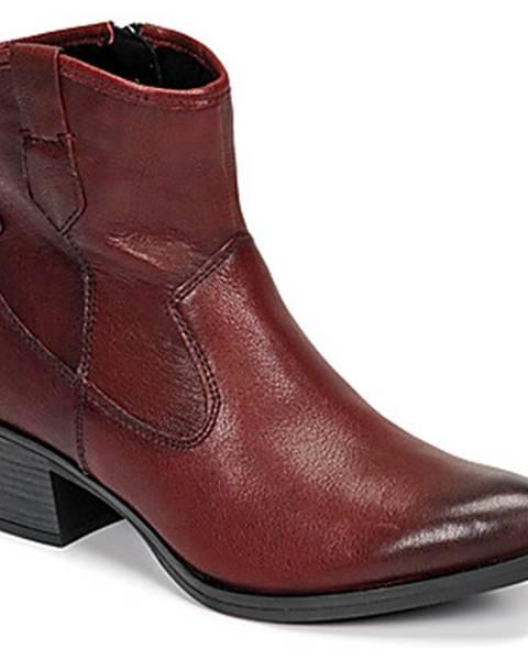 Bordové topánky Marco Tozzi