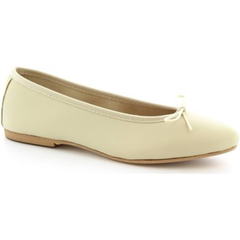 Leonardo Shoes Balerínky/Babies Leonardo Shoes  6087 CUOIO NAPPA PANNA
