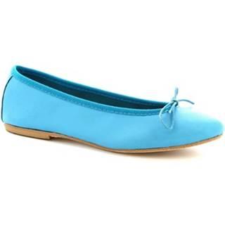 Balerínky/Babies Leonardo Shoes  6087 CUOIO NAPPA TURCHESE
