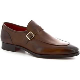 Mokasíny Leonardo Shoes  9053/19 TOM VITELLO DELAV? BRANDI