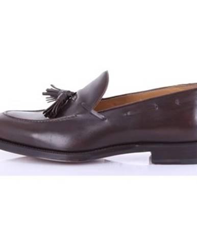 Hnedé topánky Barba Napoli