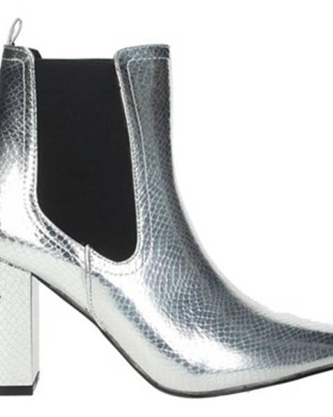 Strieborné topánky Shop Art